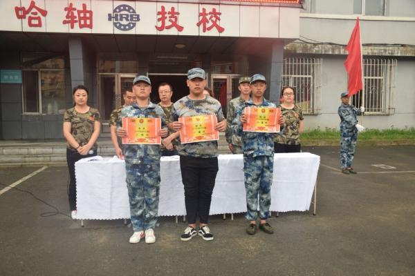 2019哈轴技校新生入学军训演练